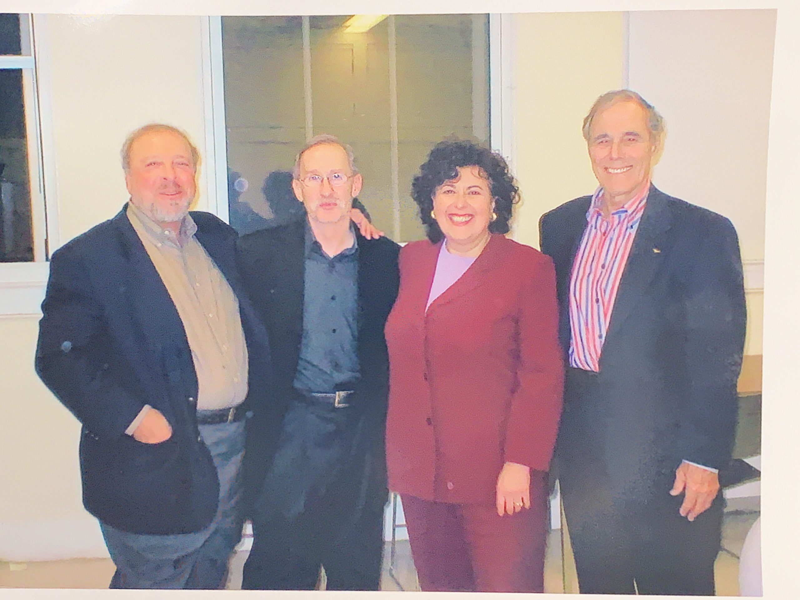 """Nelson DeMille, Susan Isaacs and Donald Everett Axin with Larry Davidson at the Landmark in Port Washington for """"Conversation from Main Street"""""""