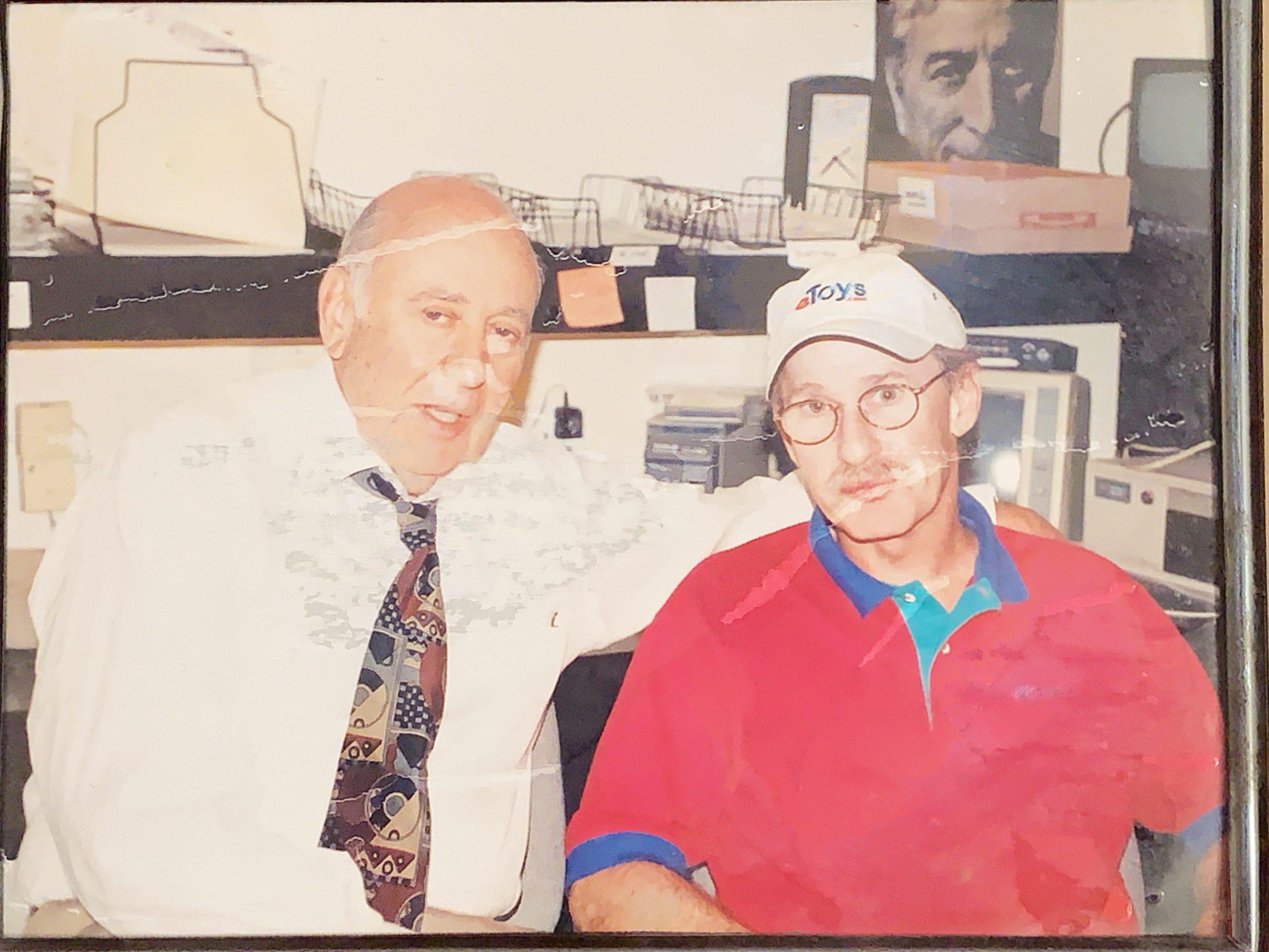 Carl Reiner with Larry Davidson