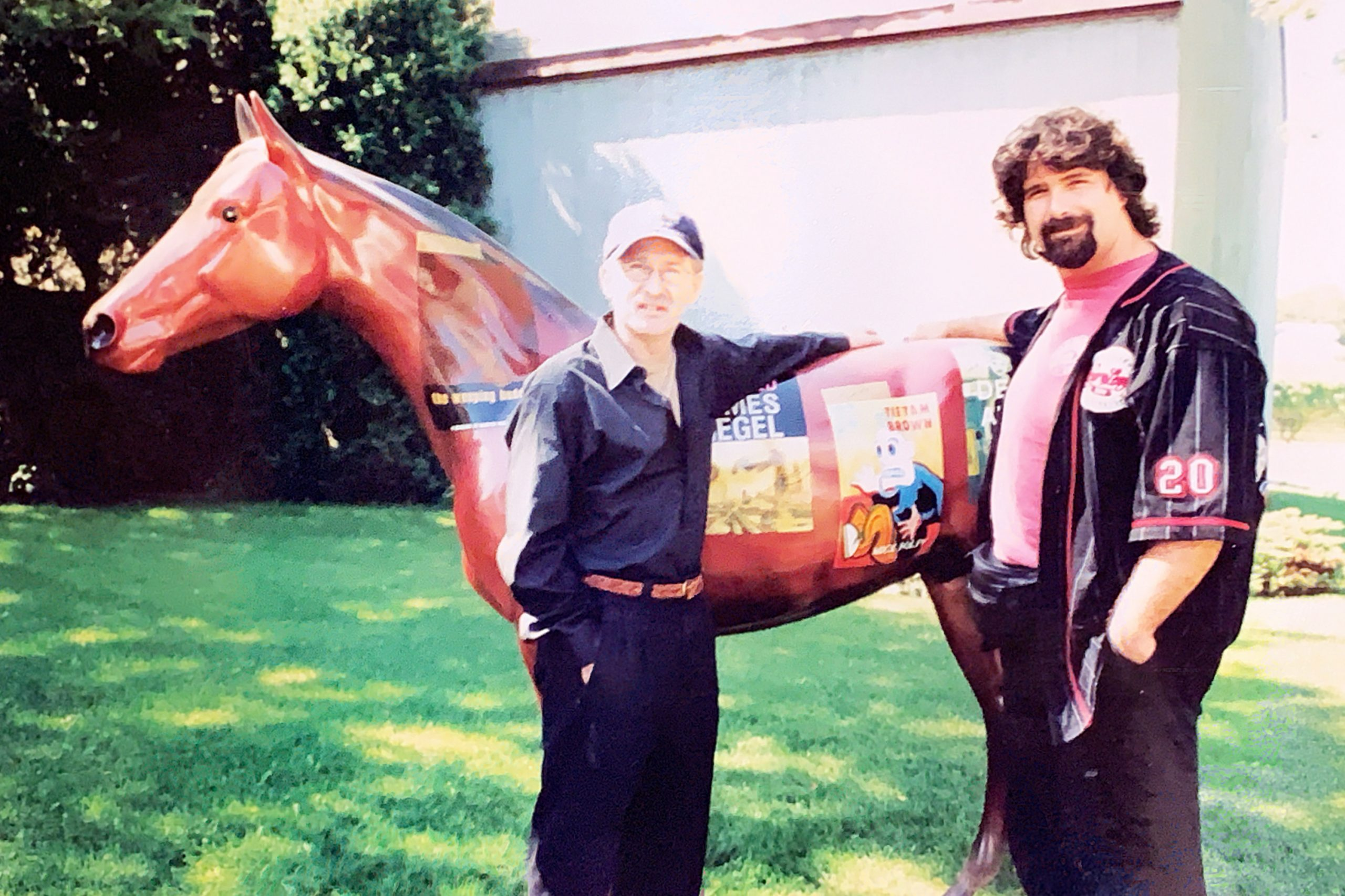 """Mick Foley, author of """"Tietam Brown"""" and the Literary Horse"""