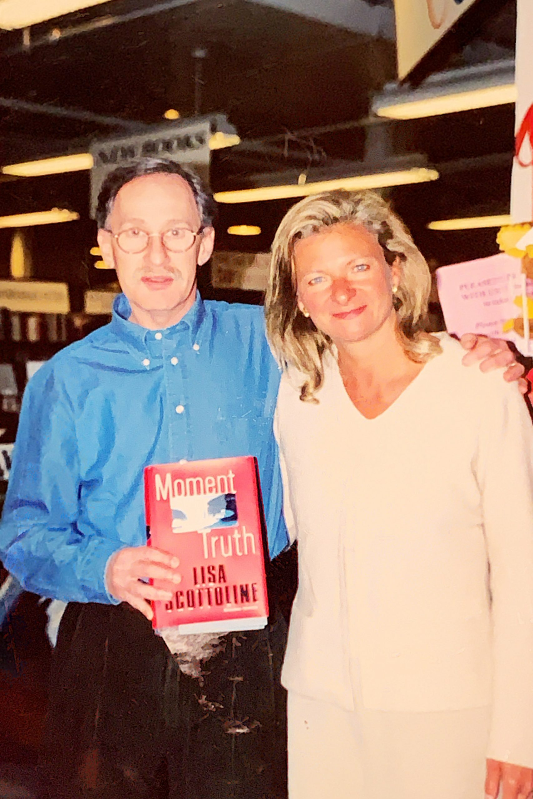 Lisa Scottoline with Larry Davidson
